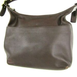 COACH Legacy 9058 Brown Leather Shoulder Bag Purse